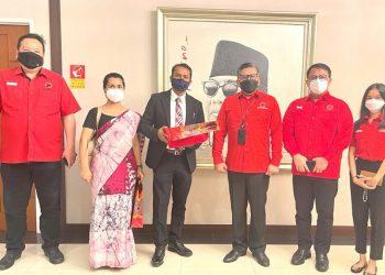DPP PDI Perjuangan menerima kunjungan Kedutaan Besar India, Senin (6/9)/PDI Perjuangan