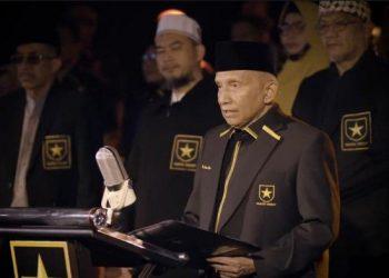Amien Rais saat mendeklarasikan Partai Ummat, Kamis (29/4/2021) (YouTube/Amien Rais Official)